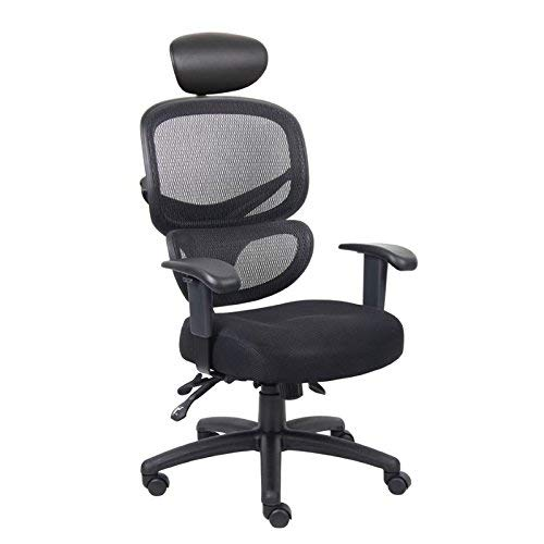 Boss Office Products B6338-HR Multi-Function Task Chair with Headrest in Black NORSTAR OFFICE PRODUCTS