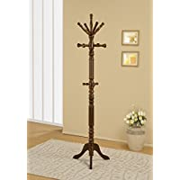 Traditional Spinning Top Wooden Coat Rack, Walnut