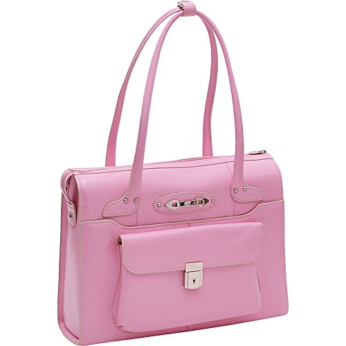 McKleinUSA WENONAH 96669 Pink Leather Ladies' Briefcase by McKleinUSA