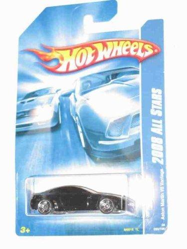 Hot Wheels Black Aston Martin V8 Vantage 2008 All Stars Series 1:64 Scale Die Cast Collectible Car #050