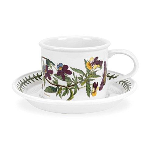 Portmeirion Botanic Garden Breakfast Cup and Saucer Heartsease (D) - 9 Ounces