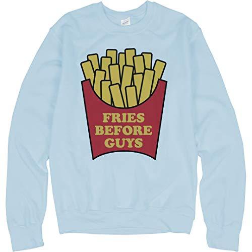 Fries Before Guys: Unisex Gildan Crewneck Sweatshirt Light - Fries Mcdonalds