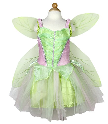 Petitebella Green Fairy Costume Wing Set Party Dress Girl Clothing 2-8year (6-8year)
