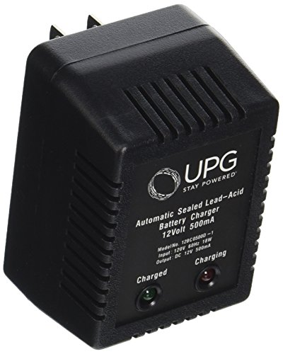 Universal Power Group Cargador de batería de plomo ácido sellado, Sealed Lead Acid Battery Charger, 14.6V fast charge