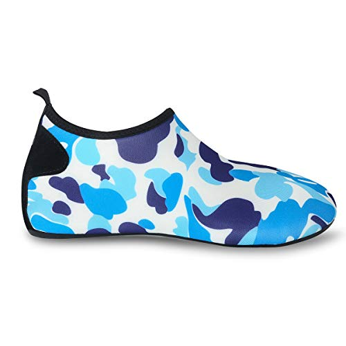 Aqua Womens Exercise Quick Vaincre Swim Socks and Blue Dry for Water Yoga Shoes Camouflage Surf Beach Barefoot Mens 1xqCZ8