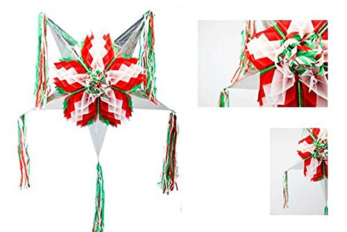 Fragile Box Halloween Costume (Star Piñata, Fiesta - Red, White & Green, 31.5