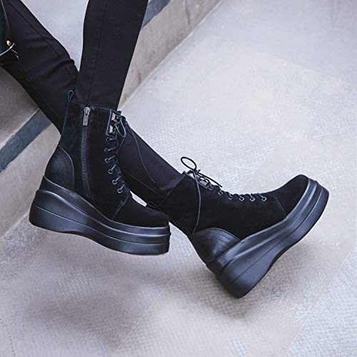 Martin B Platform Invernali Moda Yan Casual Alti Con Stivaletti Donna Zeppa Stivali Pelle In Da qzY6qwP
