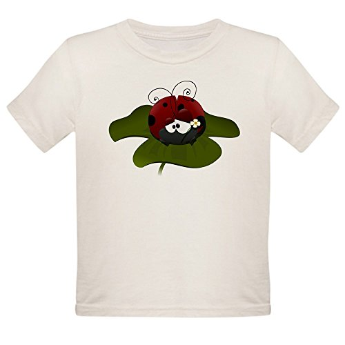 Ladybug Organic Baby T-shirt - Truly Teague Organic Toddler T-Shirt Cute Little Lady Bug Sitting on a Clover - 2T