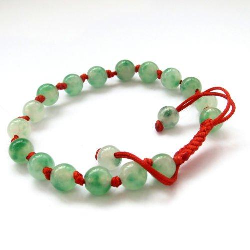 Gozebra(TM) Green Jade Tibet Buddhist Prayer Worry Beads Mala Bracelet ()