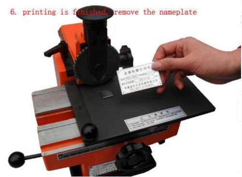 Semi-automatic Embosser Nameplate Metal Label Stamping Marking Embossing Machine Dog Tag Printer with 1PCS 3mm Font