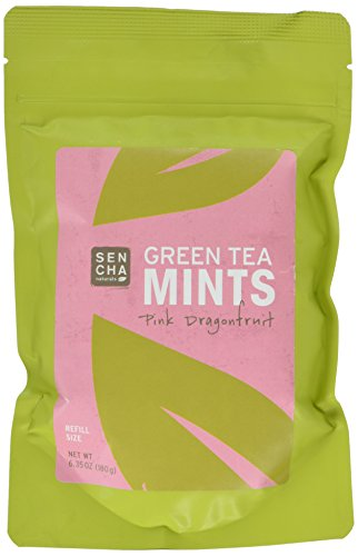 Sencha Naturals Refill Bag Green Tea Mints, Pink Dragon Fruit, 6.3 Ounce