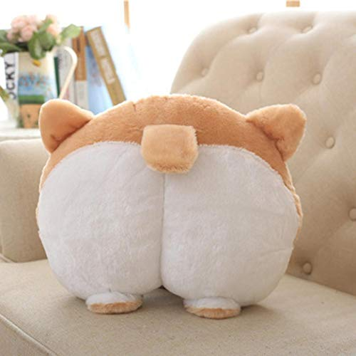 Rong Novelty Corgi Bottom Warm Pillow Dog Buttocks Hand Cushion Plush Pillow (A, Multicolor)
