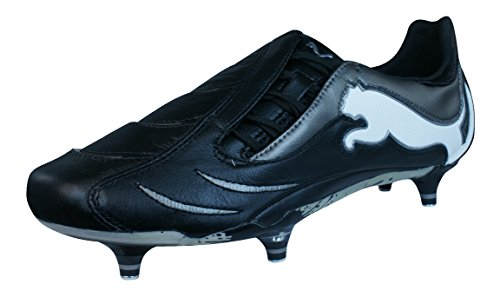 PUMA Powercat 1.10 SG Mens Leather Soccer Boots/Cleats-Black-9