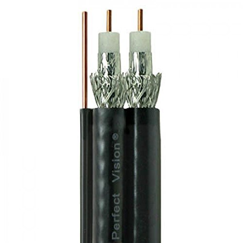 75ft Dual RG6 18AWG Coaxial Cable With Attached Ground Wire, Gilbert