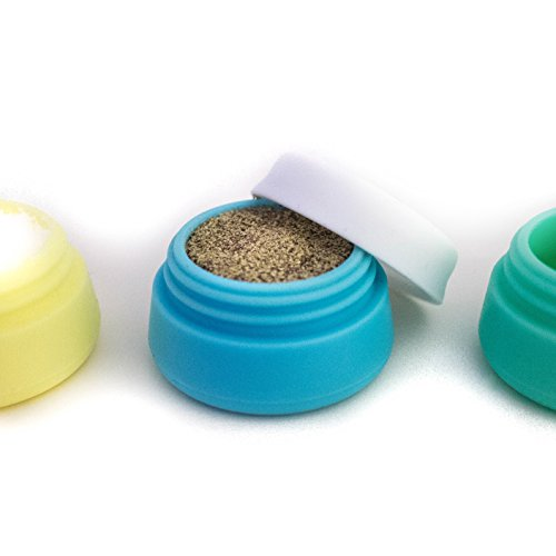3 Pack - 20ml - Soft and Durable Silicone Cosmetic Containers with Sealed Lids - Travel Friendly - Food Grade Silicone - BPA Free