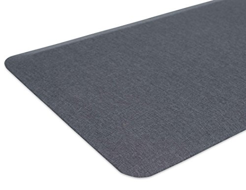 Internet's Best 32-Inch-by-20.5-Inch Anti Fatigue Cushioned Non-Slip Ergonomic Waterproof Floor Mat, Grey
