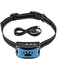 Coleira de controle de latido, adestramento para cães, pequena, média, grande, ajustável, USB, recarregável, i