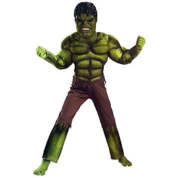 Marvel Avengers Hulk Maske 3d Muscle Jumpsuit Kids Rolle Spielen