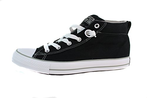 (Converse Chuck Taylor Street Mid Black/Phaeton Grey 135509F (Mens 10))