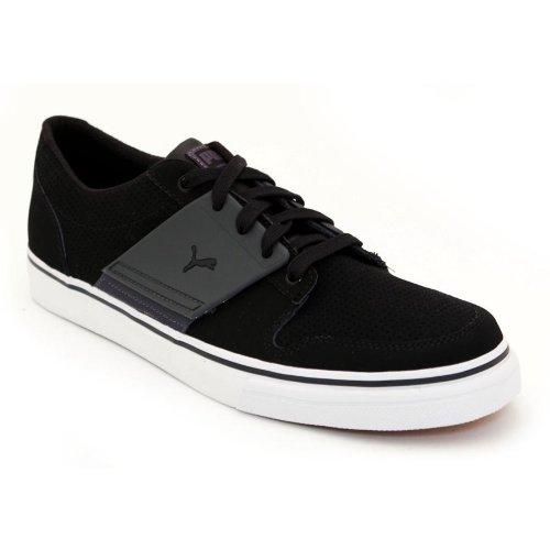PUMA Men's El Ace 2 Nubuck Leather Sneaker,Black/Dark Shadow, 4.5 D US (Puma El Ace Suede)