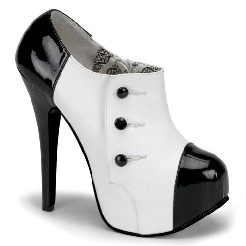 [5 3/4 Gangster Costume Shoes Button Detail Black White Oxfords Size: 9] (Gangster Shoes)