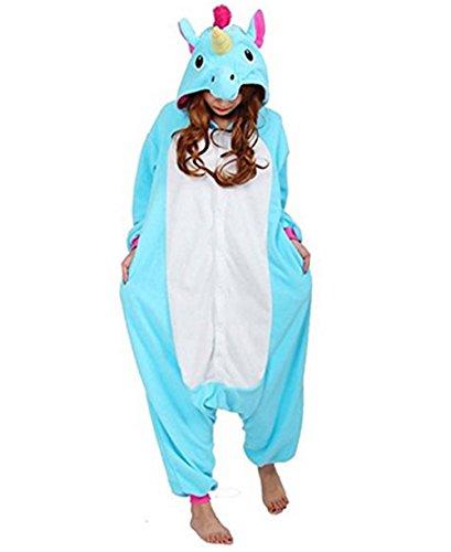 Adulto Cosplay Blu Costume Pigiama Anime Halloween notte Animali Unicorno da Tuta Kenmont Camicie unicorno wtpXq1Rp