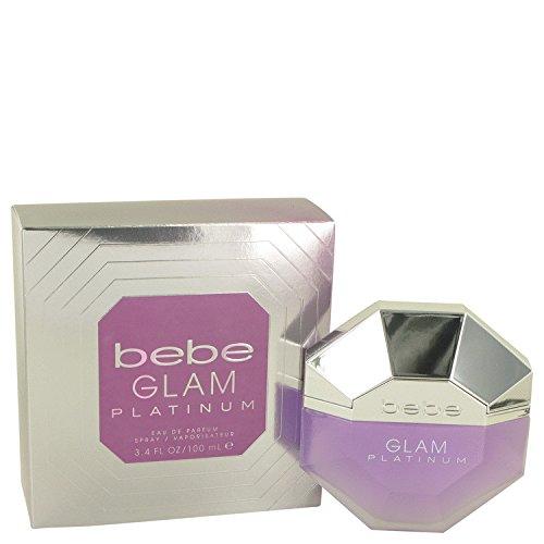 Price comparison product image Bebe Glam Platinum by Bebe Eau De Parfum Spray 3.4 oz for Women