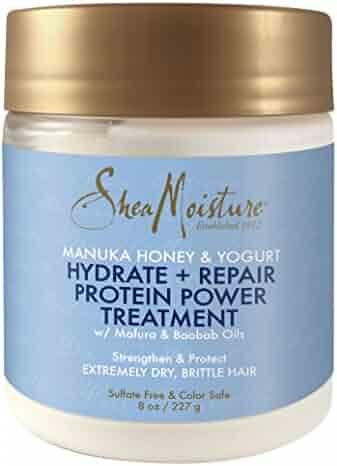 Shea Moisture Manuka Honey & Yogurt Hydrate + Repair Protein-Strong Treatment, 8 oz