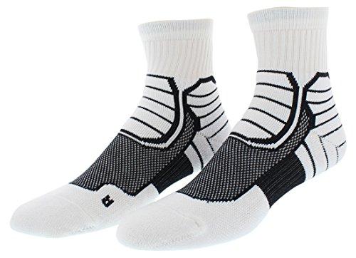 Mens Jordan Jumpman XX9 High Quarter Socks-589043 100-medium (6-8) by Jordan