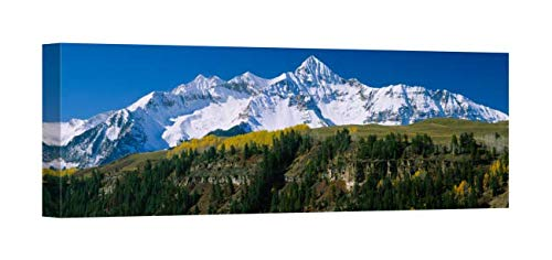 - Easy Art Prints Panoramic Images's 'Snowcapped Mountains on a Landscape, Wilson Peak in Autum, San Juan Mountains, Near Telluride, Colorado' Premium Canvas Art - 30