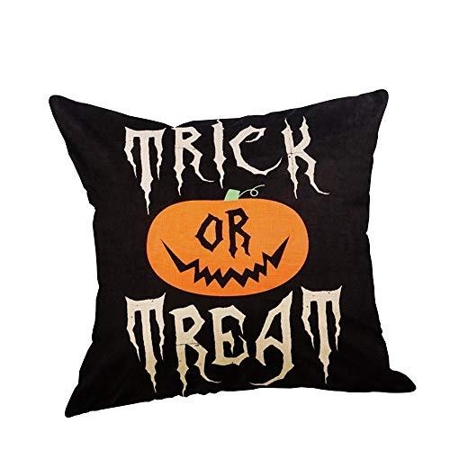 HGWXX7 Halloween Pillow Covers Linen Sofa Pumpkin Ghosts Cushion Case Home Decor -