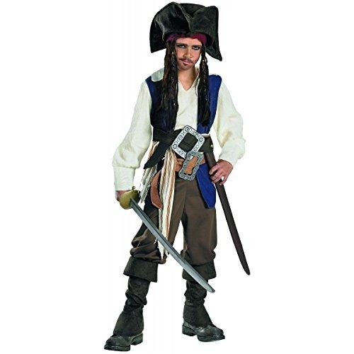 Deluxe Kids Captain Jack Sparrow Costume (Deluxe Captain Jack Sparrow Costume - Small)