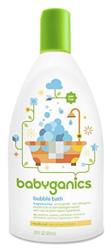 BabyGanics bébé de Bubble Bath, sans parfum, 20 oz Bouteille, (Pack de 2)