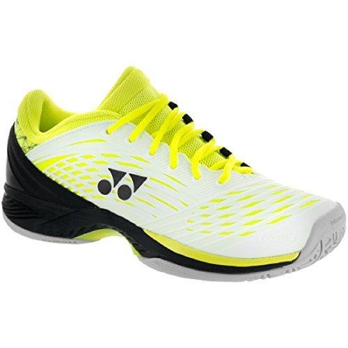 Badminton Yonex Shoes (Yonex Power Cushion Fusion Rev 2 Men's Tennis Shoes White/Yellow (8))