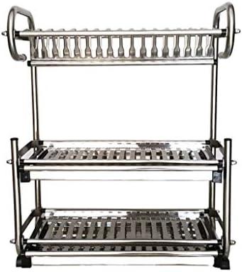 家の台所棚付けの貯蔵の皿の水切り器の棚の棚の家のステンレス鋼の棚の皿の棚の皿の棚の排水溝の棚3つの層の乾燥の食器の貯蔵の棚の世帯