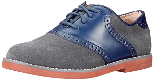 Florsheim Kids Kennett JR Saddle Shoe (Toddler/Little Kid/Big Kid), Gray Multi, 13 M US Little Kid
