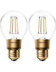 Smart Vintage gloeilamp Meross WLAN gloeilamp dimbare LED-lamp, Smart Edison retrolamp warm wit, compatibel met Alexa, Google Assistant en SmartThings, E27 A19, equivalent van 60W, 2 stuks