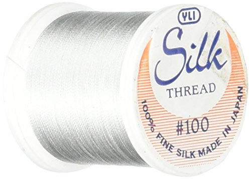 (YLI Corporation 202-10-269 200 Metres 100 Weight Silk Thread, Light Silver)