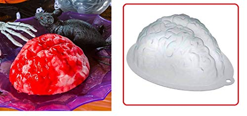 Brain-Shaped Gelatin Molds (Pack of 2) Halloween Party Decorations, Table Centerpiece -