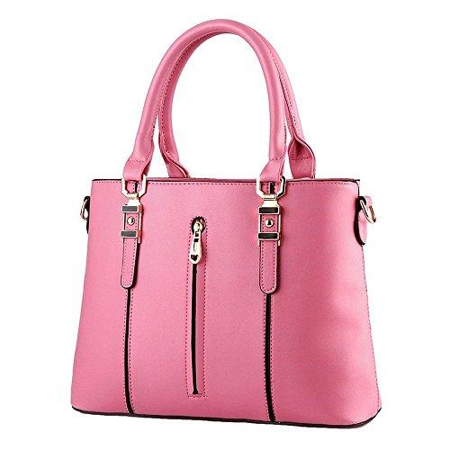 Desklets Womens PU Leather Vintage Zipper Top Shoulder Bags Purse - Froday Sales Black