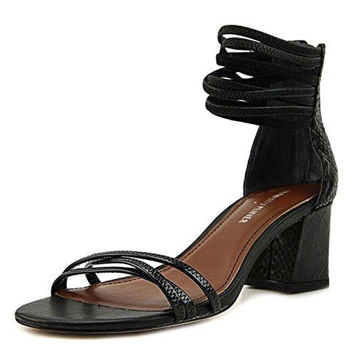 Donald J Pliner Womens Essie Leather Open Toe Casual Ankle Strap Sandals, Black, 8.5