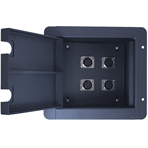 Pro Audio Recessed Stage Floor Pocket Box Black (4-xlr (Xlr Floor Box)