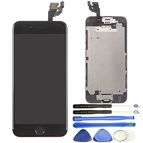 Repair Cracked iPhone 6 4.7 inch LCD Display Screen Touch Digitizer Full Assembly Replacement with Home Button