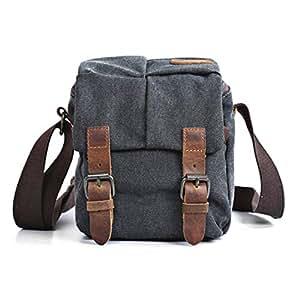 Aiweijia Men Camera Bag Retro Crossbody Bag Shoulder Bags Travel Bag