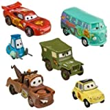 Disney Pixar Cars - Lightning McQueen Pit Crew - 6 Figure Play Set - In Display Box
