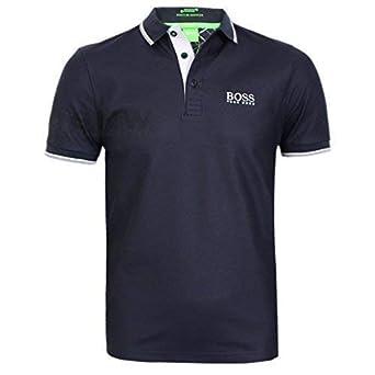 BOSS Hugo Hombre Golf Polo Camiseta Peppo Pro Negro, Azul, Azul ...