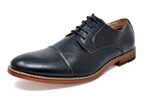 Bruno Marc Men's Marlon-1 Black PU Leather Lined Dress Oxfords Shoes – 10 M US