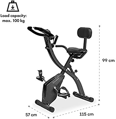 KLAR FIT Klarfit X-Spline - Bicicleta estática, Correas Flexibles ...