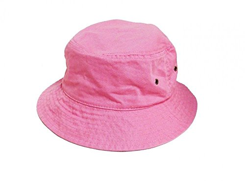 Easy-W Pink 100% Cotton Hat Cap Bucket Boonie Unisex by Easy-W (Image #1)