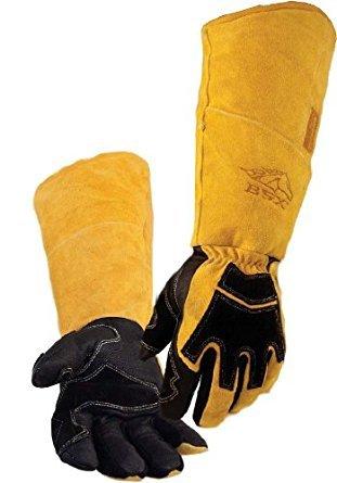 REVCO BSX Premium Pigskin/Cowhide Back Long Cuff Stick Welding Gloves BS99 -XL by Black Stallion